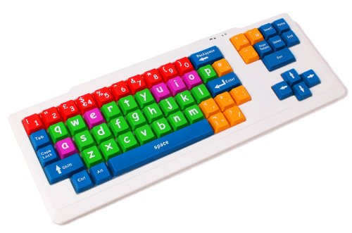 DURAGADGET Teclado De PS2/USB para Niños O Invidentes En Disposición Ingles