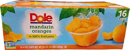 Dole Mandarin Oranges Fruit Cups  16 x 4 Ounce  64 Ounce