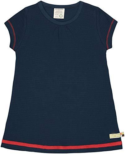 loud + proud Kleid Waffel, Gots Zertifiziert Atuendo de Jugador, azulón, 98 cm-104 cm para Bebés
