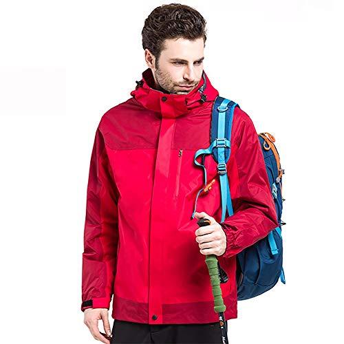 Nvshiyk Chaquetas Ligeras Softshell para Hombre Abrigo Bordado a Prueba de Viento a Prueba de Viento Chaqueta de vellón Suave cálido for Hombre Transpirable al Aire Libre (Color : Rojo, Size : S)