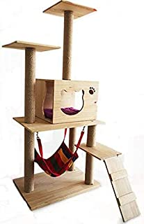 133cm Luxury Cat Play Tree/Cat Pole Pet Scratching Post Furniture Home