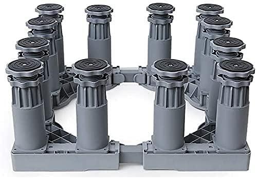 TabloKanvas - Supporto per lavatrice per asciugatrice, con piedini regolabili, telescopico anti-vibrazione (dimensioni: 3,7 m)