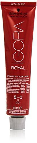 Schwarzkopf IGORA Royal Premium-Haarfarbe 8-0 hellblond, 1er Pack (1 x 60 g)