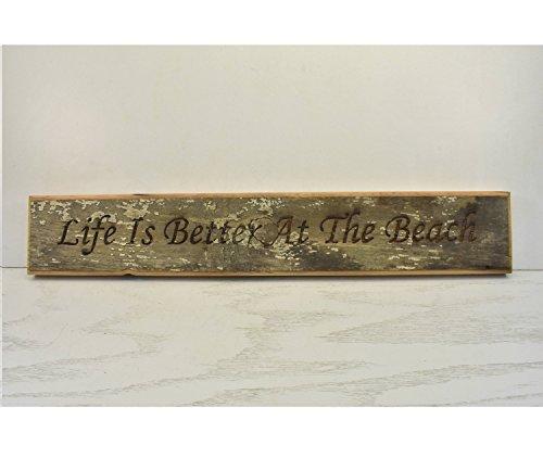 Norma Lily Life is beter bij het strand Plaque hout teken deur Topper