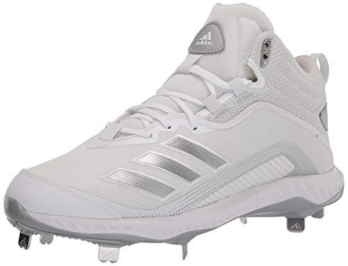 adidas Men's FV9355 Baseball Shoe, White/Silver/Light Grey, 7