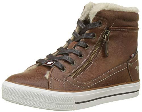 MUSTANG Damen High Top Hohe Sneaker, Braun (Kastanie 301), 40 EU