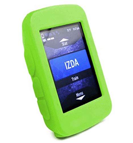 BIKECO Garmin Edge 520 - Funda protectora de silicona a prueba de polvo para Garmin 520 + protector de pantalla resistente a los arañazos (verde)