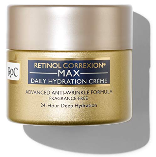 RoC Retinol Correxion Fragrance-Free Max Daily Hydration Anti-Aging Crème with Hyaluronic Acid, 1.7 Ounces, unscented