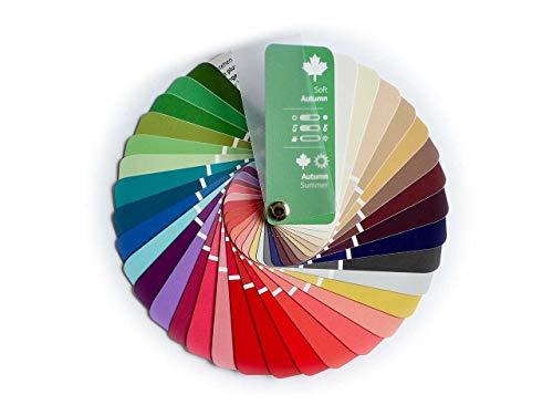 Farbpass Herbst-Sommer (Soft Autumn) als kleiner Fächer mit 35 typgerechten Farben zur Farbanalyse, Farbberatung, Stilberatung