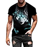 Men's Graphic Tees Novelty Graphic T Shirts Cool Designs Vintage Crew Neck Print Tee for Men Summer Tees