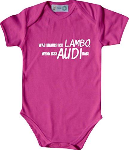 Unbekannt Lustiger Baby Body mit Druck/was Brauch Ich Lambo, Wenn Isch Audi Hab! / Farbe: Kirschrot/Größe: 50-56 (1-2 Monate)