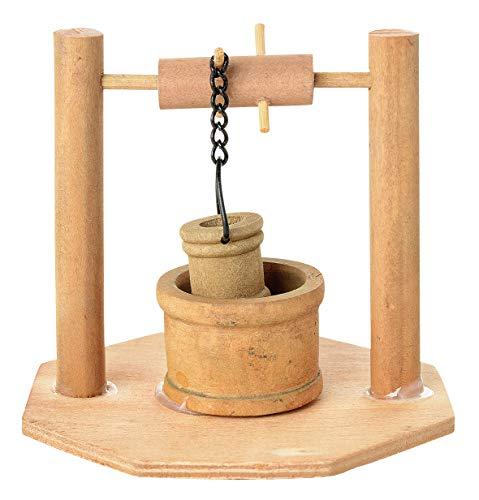 VBS Miniatur Brunnen aus Holz ca. 8cm Krippe Weihnachten Modellbau Modelleisenbahn Dorf Wasserstelle