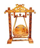100% Handmade; Made by Govt Certified Artisans from Rajasthan Craft Type: Wooden Craft Material: Wood; Color: Brown Dimesion (W x H)16½ × 20½ INCH Package Includes: 1 Laddu Gopal Chouras Hildolana