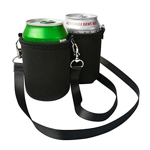 BeerHolder Eff Em Concept 2er Set Dosenhalter für Den Hals, Dosenhalterung inkl. Halstrageband, Glashalter, Flaschenhalter (Lanyard) (2 Stück)
