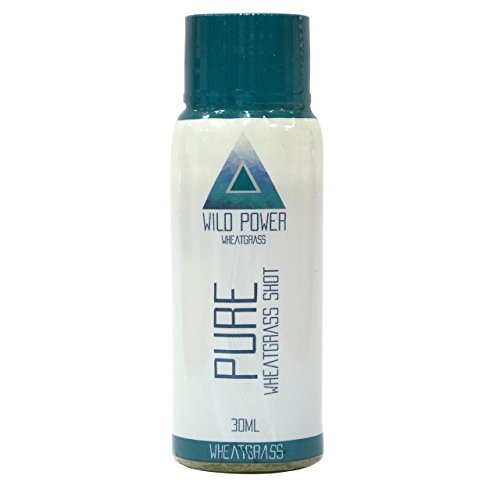 Vitamin Packed Pure Wheatgrass Shot: listo para tomar tragos. Paquete de 7 x 30 ml. Potencia su sistema inmunológico de forma natural.El máximo jugo de desintoxicación de Wild Power Wheatgrass.