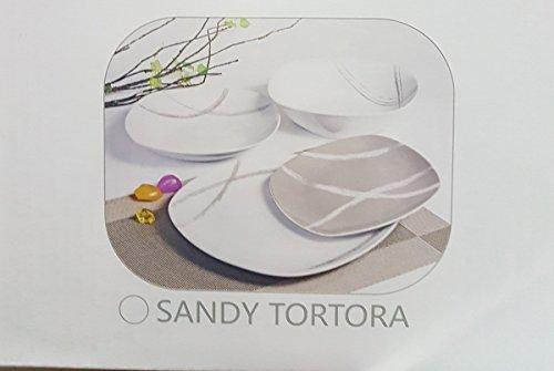 OFFERTA SERVIZIO DI PIATTI MODERNO 19 PEZZI SANDY (TORTORA)
