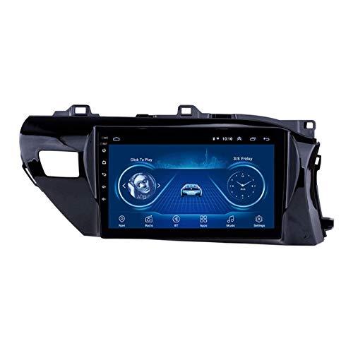 WY-CAR 10.1 Pulgadas Android 8.1 Unidad De Cabeza Estéreo De Radio De 2din para Toyota HILUX 2016 2017 2018, Navegación GPS/Bluetooth/FM/RDS/Control De La Rueda De Dirección/Cámara Trasera
