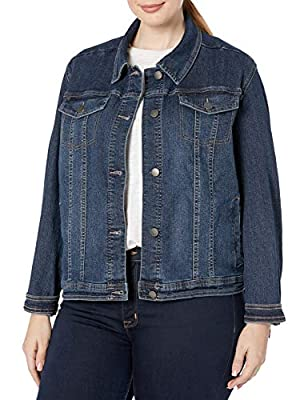 Riders by Lee Indigo Women's Plus Size Denim Jacket, Dark Wash, 1X from Riders by Lee Indigo Womens Sportswear