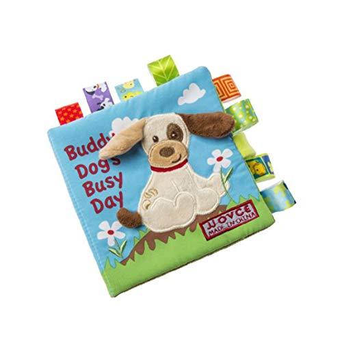 ruiting Bambino Libri di Panno Molle Non tossico Tessuto Primi Formazione Gioca attività Piega Libro di Panno per Il Bambino Neonati e Bambini 1pc Dog