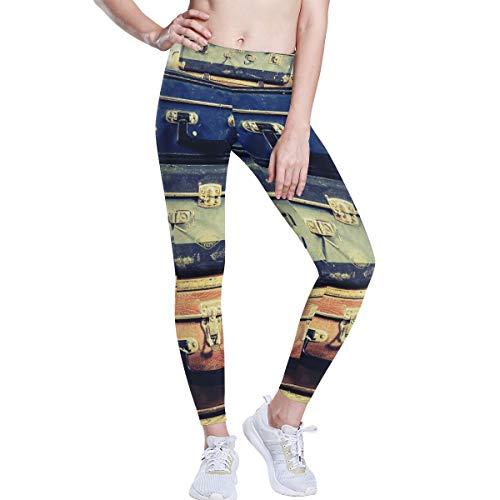 DEZIRO hoge taille Yoga broek Vintage koffer oude foto Yoga broek met Tummy controle, 4 manieren stretchtraining hardlopen Yoga legging