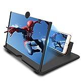 Newseego Amplificateur d'écran de téléphone portable HD avec support pliable pour tous les smartphones Noir 30,5 cm