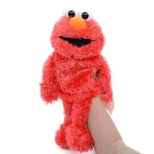 N\ A Sesame Street The Muppet Show Peluche De Juguete De Felpa Marioneta De Mano Juguete Marionetas De Mano Niños Animales Elmo Cookie Monster Muñeca De Peluche 31CM/Rojo