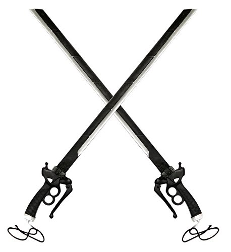 2PC COMBO SET 37' Attack on Titan Shingeki Kyojin Fantasy Foam Sword LARP Halloween Costume Cosplay Xmas