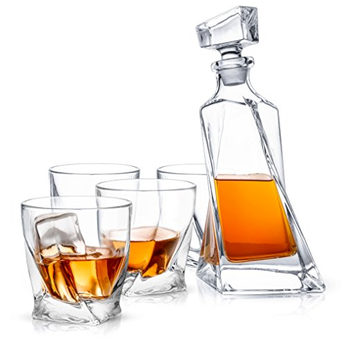 Up to 70% Off JoyJolt Crystal - 5-Piece Whiskey Decanter Set Now $43.76 (Was $145)