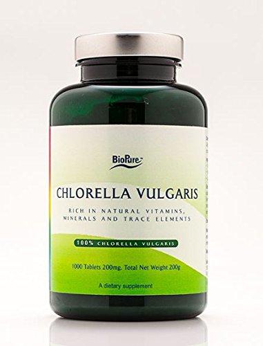 BioPure Chlorella Vulgaris 200 mg - 1000 Tablets