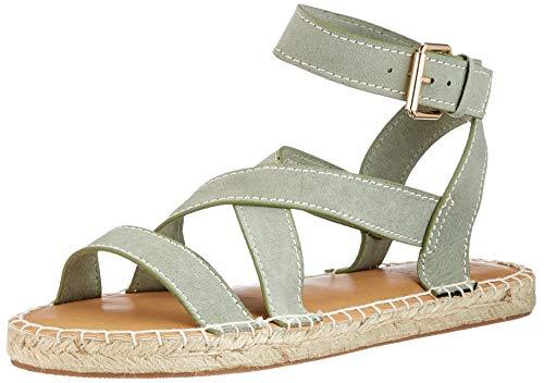Only Damen ONLELLE-1 Life Sandal Espadrilles, Khaki, 39 EU