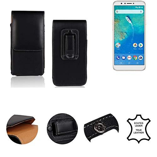 K-S-Trade® Holster Gürtel Tasche Für General Mobile GM 8 Handy Hülle Leder Schwarz, 1x
