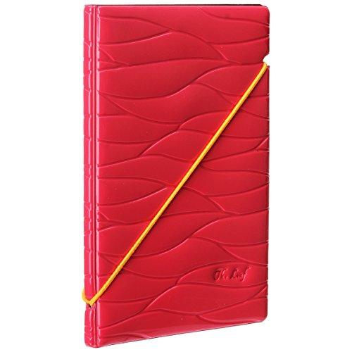 Woodmin Premium Shiny Portafoglio Porta Passaporto Della Carta di Identificazione del Cuoio Sintetico per la Corsa (Rose)