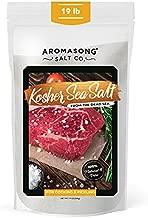 Aromasong 100% Natural Sea Salt Bulk Food Grade 19 Lb, Kosher Salt Grain, Large Resealable Bag, Pure Dead Sea Salt, Gluten Free Unrefined Sea Salt, Grinder Refill For Daily Cooking, Canning & Pickling