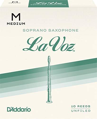 Confezione da 10 Ance Medie la Voz per Sassofono Soprano