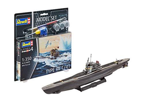Revell- Model Set German Submarine Type Kit plástico, Multicolor, 1/93 (65154)