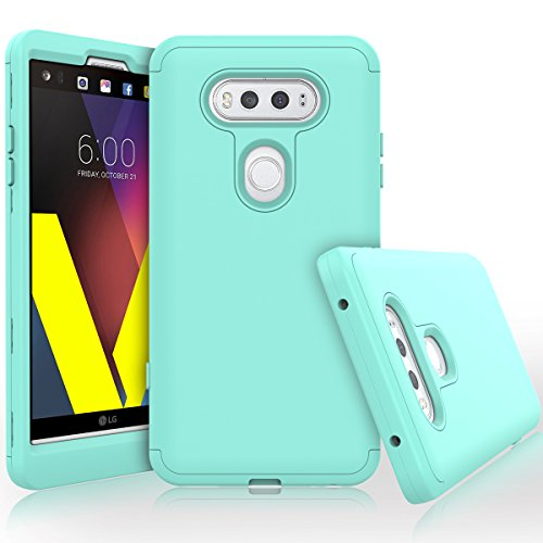 WeLoveCase for LG V20 Case, Heavy Duty High Impact Defense Shield Hard PC Outer Shell with Inner Soft Rubber Hybrid 3 in 1 Combo Full-Body Armor Protective Case for LG V20 Cool Mint