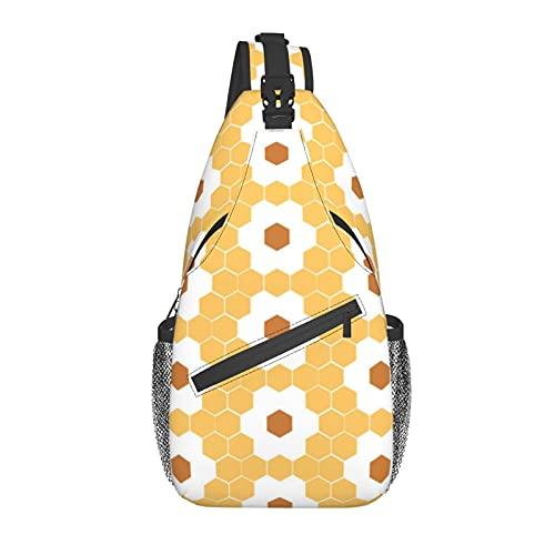 BYTKMFD Bolsa de pecho de seis pétalos de flores en diagonal, mochila de honda, fin de semana al aire libre, senderismo bolsa de hombro para ciclismo hombre mujer, Black, Talla única