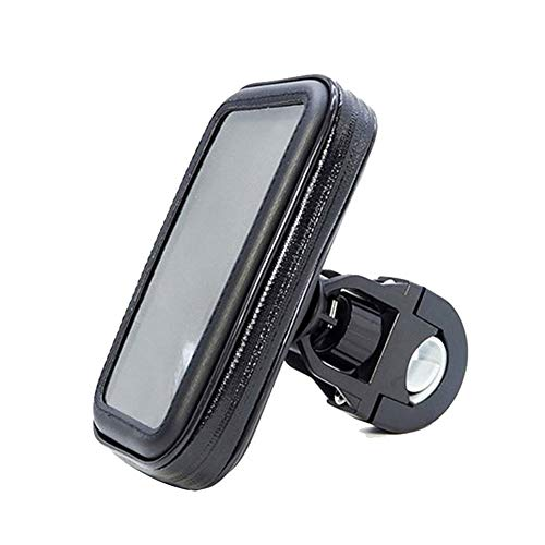 Bolsa Bici con Soporte para Telefono Móvil,360 Grados Rotación Soporte Móvil,Soporte De Bicicleta Impermeable con Pantalla Táctil,para Teléfonos Inteligentes De 4.8 A 6.3 Pulgadas