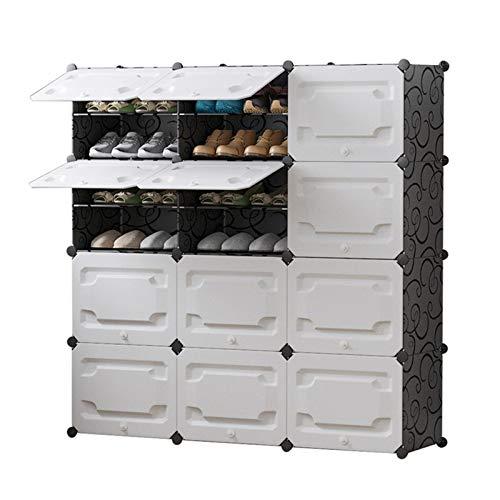 Almacenamiento de Zapatos Organzier Gabinete modular estanterías para ahorrar espacio, estantes de zapatos para zapatos, botas portátil zapatería almacenamiento organizador torre Estanterías de Zapato