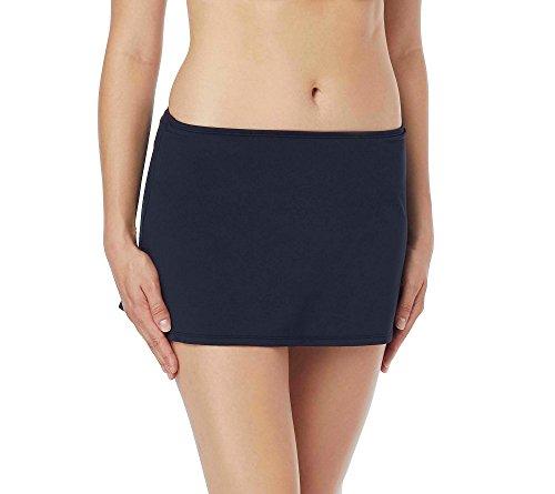 Beach House Women's Charlotte Skirted Swimsuit Bottom with Side Slit Detail, paloma Beach Black, 10