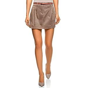 oodji Ultra Mujer Falda de Algodón con Cordones, Verde, ES 44 / XL ...