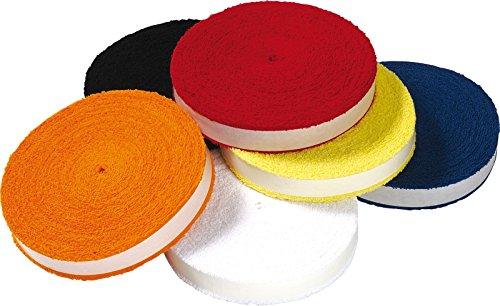 Victor Badminton Tennis Squash - 12 Meter Griffband Rolle - Frottee-Grip Reel Auswahl (Gelb)