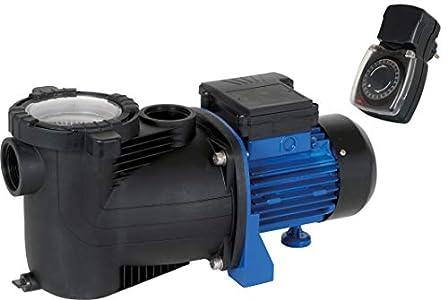TIP SPP 600 FT Bomba de Filtro para Piscina con prefiltro y Temporizador, Negro/Azul
