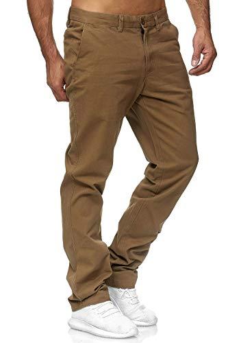 EGOMAXX Herren Chino Hose Jeans Stoff-Hose aus Baumwolle Regular fit, Größen:W34 (Etikett 44), Farben:Hellbraun
