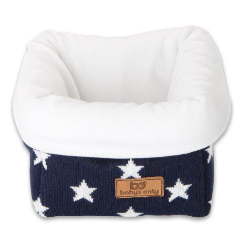 Baby's Only Corbeille de rangement Star bleu marine et blanc - Bleu foncé