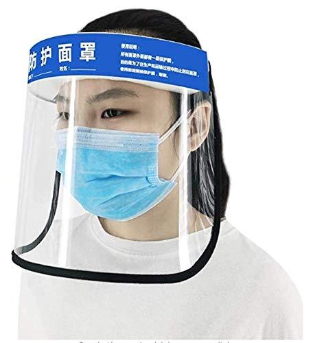 NIOKE Máscara Anti-Salpicaduras de Saliva Anti-Escupir Anti-Niebla Anti-Aceite Protector Protectores faciales con Banda Elástica, Palabras Chinas