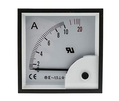 RS PRO AC Dreheisen Amperemeter, 0 → 20A / ±1,5%, 92mm x 92mm