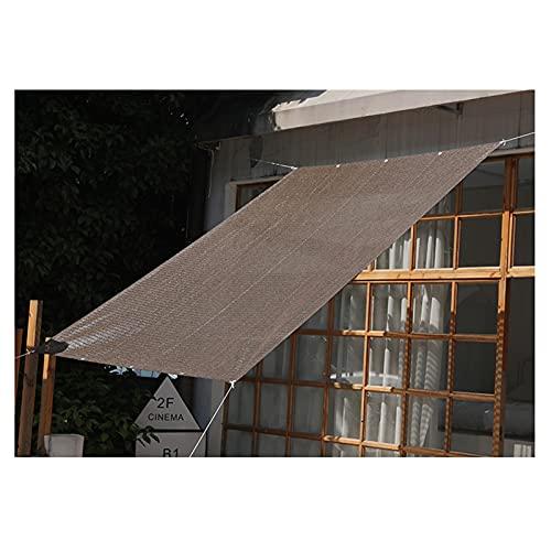LSSB Personalizable Paño De Sombra De Jardín HDPE Anti-UV Marrón Velas De Sombra para Exteriores Balcón Patio Protección Solar del Coche, Varios Tamaños (Color : Brown, Size : 4x6m)