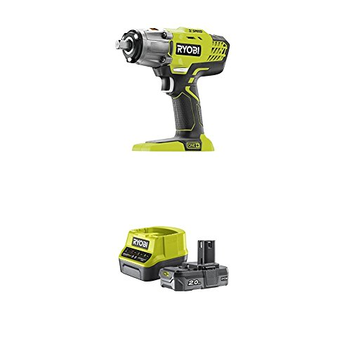 Ryobi R18IW3-0 18V ONE+ Cordless 3-Speed Impact Wrench with Lithium+ 2.0Ah Battery and Charger
