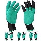 4 paires de gants de jardinage avec griffes imperméables et respirants pour creuser, planter, désherber, protéger les ongles et les doigts, meilleur cadeau de jardinage pour homme et femme